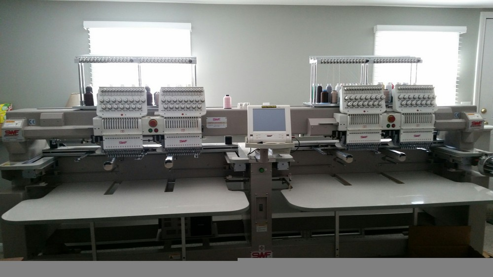Our New 4 head Embroidery machine.